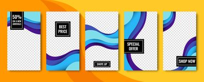 Set of vector abstract backgrounds. Material design. Template for web design, advertising, social networks. Set of vector abstract backgrounds. Material design stock illustration
