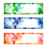 Set vector abstract banner Stock Photography