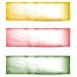 Set vector abstract banner Stock Photos