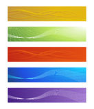 Set of vector abstract banners Royalty Free Stock Photos