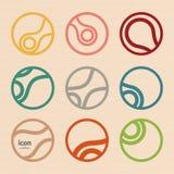 Set vector abstract circle icon. Molecule design Stock Image