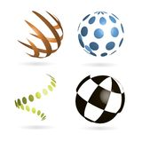 Set of vector abstract color fields. For design business projects vector illustration