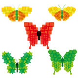 Set Of Vector Abstract Colorful Butterflies Icons Isolated Royalty Free Stock Image