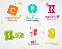 Set of Vector abstract creative logo design. Art Royalty Free Stock Photography