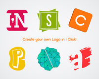 Set of Vector abstract creative logo design Royalty Free Stock Images
