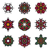 Set of vector  abstract damask ornamental designs. Royalty Free Stock Photos