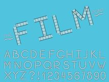 Set of vector abstract font and alphabet vector illustration
