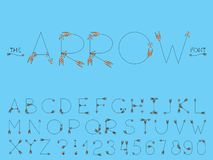 Set of vector abstract font and alphabet royalty free illustration