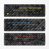 Set of vector abstract geometric banners royalty free stock image