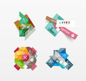 Set of vector abstract geometric layout Stock Photography