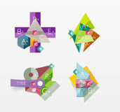 Set of vector abstract geometric layout Royalty Free Stock Photos