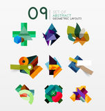Set of vector abstract geometric layout Stock Images