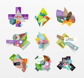 Set of vector abstract geometric layout Stock Photo