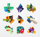 Set of vector abstract geometric layout Royalty Free Stock Photo
