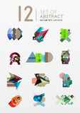 Set of vector abstract geometric layout Royalty Free Stock Photography