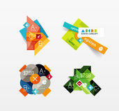 Set of vector abstract geometric layout Stock Image