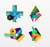 Set of vector abstract geometric layout Royalty Free Stock Images