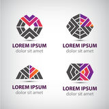 Set of vector abstract icons, logos Royalty Free Stock Photography