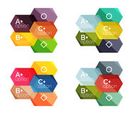 Set of vector abstract infographics content boxes Stock Photo