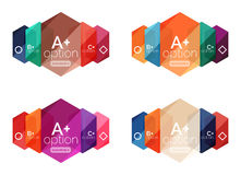 Set of vector abstract infographics content boxes Royalty Free Stock Image