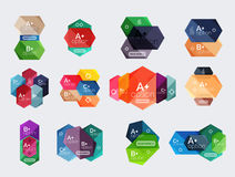 Set of vector abstract infographics content boxes Stock Images