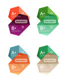 Set of vector abstract infographics content boxes vector illustration
