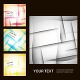 Set of vector abstract line background EPS10 Stock Photography