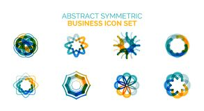 Set of vector abstract shapes Royalty Free Stock Photos