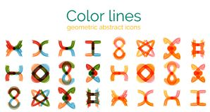 Set of vector abstract shapes Stock Photography