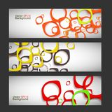 Set vector abstract style background Royalty Free Stock Image