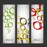 Set vector abstract style background Royalty Free Stock Images