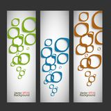 Set vector abstract style background Royalty Free Stock Photos