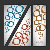 Set vector abstract style background Royalty Free Stock Photography