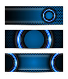 Set of vector abstract technology concept banner Royalty Free Stock Photography