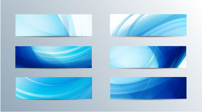 Set of vector abstract wavy banners Royalty Free Stock Photos