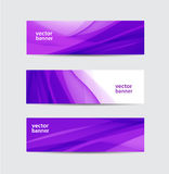 Set of vector abstract wavy banners Royalty Free Stock Photo