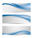 Set of vector abstract wavy design banner Stock Image