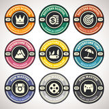 Set of Vector Achievement Badges Royalty Free Stock Images
