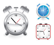 Set of vector alarm clocks Royalty Free Stock Image
