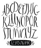 Set of vector alphabet and numbers Royalty Free Stock Images