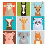 Set of vector animal icons Stock Photos