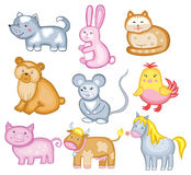 Set of vector animal. (isolated on white background Royalty Free Stock Image