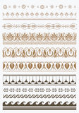 Set of vector antique greek borders Royalty Free Stock Photo