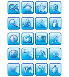 Set of vector application icons isolated on white. Background Stock Photo