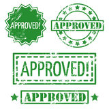Approved rubber stamp. Set of vector approved rubber stamp Stock Images