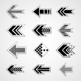 Set of vector arrows Stock Photos