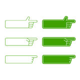 Set of vector arrows elements. Green color Royalty Free Stock Photos