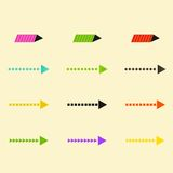 Set of vector arrows eps10 Stock Photography