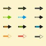 Set of vector arrows eps10 Royalty Free Stock Photos
