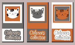 Set of vector art labels on children`s clothing royalty free illustration